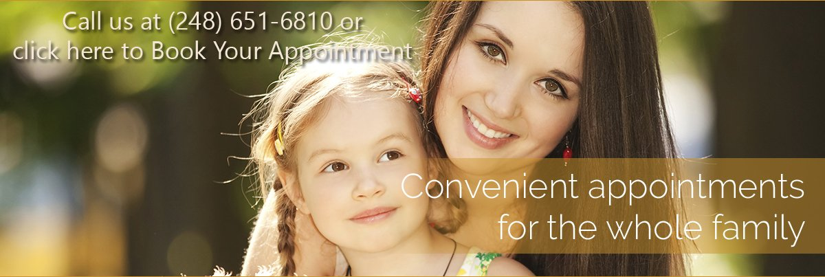 Dentist Rochester Hills - Daughter and mother